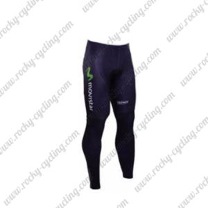 2016 Team Movistar Cycling Long Pants Tights Blue