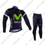 2016 Team Movistar Cycling Long Suit Blue
