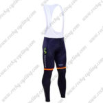 2016 Team Movistar Spain Cycle Long Bib Pants Tights Blue