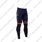 2016 Team Movistar Spain Cycling Long Pants Tights Blue