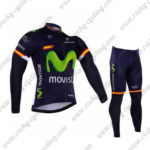 2016 Team Movistar Spain Cycling Long Suit Blue
