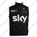 2016 Team SKY Cycling Vest Sleeveless Waistcoat Rain-proof Windbreak Black