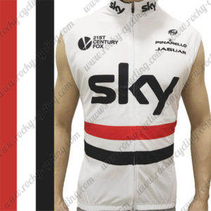 2016 Team SKY PINARELLO Cycling Sleeveless Vest Tank Top White