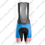 2016 Team TREK BONTRAGER Riding Bib Shorts Bottoms Blue Red White