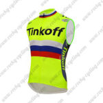 2016 Team Tinkoff Cycle Sleeveless Vest Tank Top Yellow