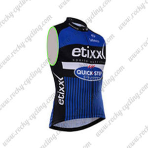 2016 Team etixxl QUICK STEP Cycle Sleeveless Vest Tank Top Blue