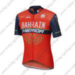 2017 Team BAHRAIN MERIDA Cycling Jersey Maillot Shirt Red