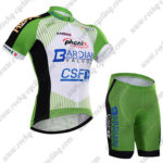 2017 Team BARDIANI CSF Cycling Kit Green White Black