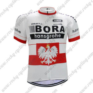 2017 Team BORA hansgrohe Poland Cycling Jersey Maillot Shirt White