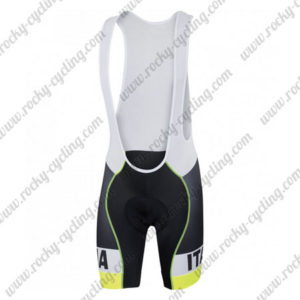 2017 Team ITALIA Sportful Cycle Bib Shorts Bottoms Yellow Black
