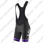 2017 Team Liv Women's Lady Bike Riding Bib Shorts Bottoms Black Purple