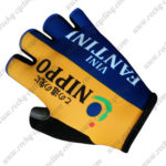 2017 Team NIPPO VINI FANTINI Cycling Gloves Yellow Blue
