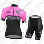 2017 Team Podium Ambition Santini Womens Lady Biking Kit Pink Black