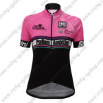 2017 Team Podium Ambition Santini Womens Lady Cycling Jersey Maillot Shirt Pink Black