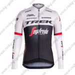 2017 Team TREK Segafredo Cycling Long Sleeves Jersey Maillot White Black