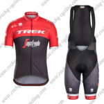 2017 Team TREK Segagredo Cycling Bib Kit Red Black