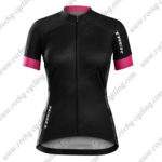 2017 Team TREK Womens Lady Riding Jersey Maillot Shirt Black Pink