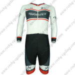 2017 Team Wie Long Sleeves Triathlon Cycling Wear Skinsuit White Black