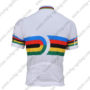 2010 Team Santini UCI Champion Racing Jersey Maillot Shirt White Rainbow