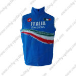2012 Team ITALIA Cycling Vest Sleeveless Waistcoat Rain-proof Windbreak Blue