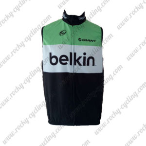 2014 Team Belkin GIANT Cycling Vest Sleeveless Waistcoat Rain-proof Windbreak Green Black