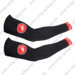 2014 Team Castelli Cycling Arm Warmers Sleeves Black Red