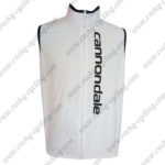 2015 Team Cannondale Bicycle Vest Sleeveless Waistcoat Rain-proof Windbreak White Black