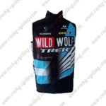 2015 Team WILDWOLF TREK Cycling Vest Sleeveless Waistcoat Rain-proof Windbreak Black Blue