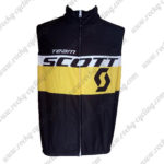 2016 Team SCOTT Cycling Vest Sleeveless Waistcoat Rain-proof Windbreak Black Yellow