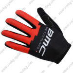 2017 Team BMC Cycling Long Gloves Full Fingers Black Red
