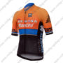 2017 Team DE ROSA Santini Biking Jersey Maillot Shirt Orange Blue Black