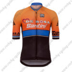 2017 Team DE ROSA Santini Cycling Jersey Maillot Shirt Orange Blue Black