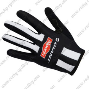 2017 Team GIANT Alpecin Cycling Long Gloves Full Fingers Black White
