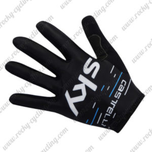 2017 Team SKY Cycling Long Gloves Full Fingers Black Blue