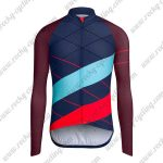 2015 Team Rapha Cycling Long Jersey Blue Red