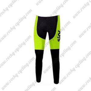 2015 Team SKY Cycle Long Pants Tights Black Yellow