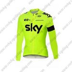 2015 Team SKY Cycling Long Jersey Yellow