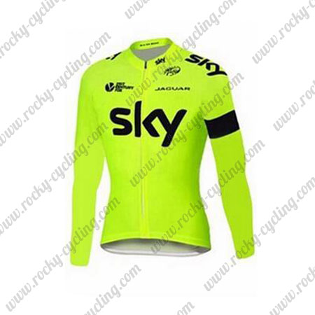 ... Winter Cycle Wear Thermal Fleece Riding Long Sleeves Jersey Maillot  Yellow. 2015 Team SKY Cycling Long Jersey Yellow b2f7d3eb6