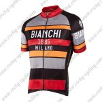 2016 Team BIANCHI 1885 MILANO Cycling Jersey Maillot Shirt Grey Black Red