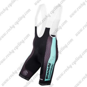 2016 Team BIANCHI Racing Bib Shorts Bottoms Blue Black