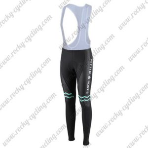 2016 Team BIANCHI Women Lady Cycling Long Bib Pants Tights Black Green