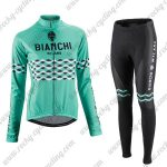 2016 Team BIANCHI Women Lady Cycling Long Suit Green