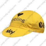 2016 Team SKY Cycling Cap Hat Yellow