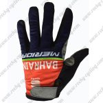 2017 Team BAHRAIN MERIDA Cycling Full Fingers Gloves Red Blue