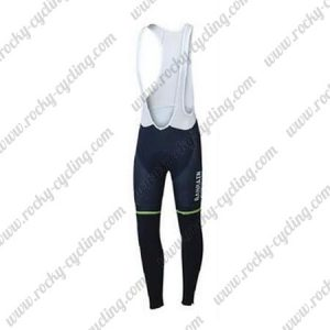 2017 Team BAHRAIN MERIDA Cycling Long Bib Pants Tights Blue