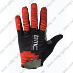 2017 Team BMC Cycling Full Fingers Gloves Red Black