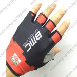 2017 Team BMC Cycling Gloves Mitts Half Fingers Black Red