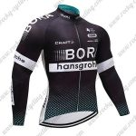 2017 Team BORA hansgrohe Cycling Long Jersey Black Blue