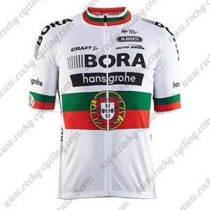 2017 Team BORA hansgrohe Portugal Cycle Jersey Maillot Shirt White
