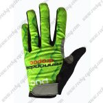 2017 Team Cannondale drapac Cycling Full Fingers Gloves Green